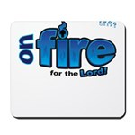 On Fire for the Lord 2 blue Mousepad