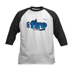 On Fire for the Lord 2 blue Kids Baseball Jersey