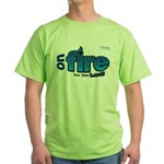 On Fire for the Lord 2 blue Green T-Shirt