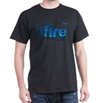 On Fire for the Lord 2 blue Dark T-Shirt