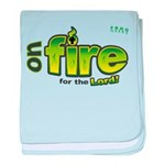 On Fire for the Lord 2 green baby blanket
