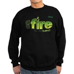 On Fire for the Lord 2 green Sweatshirt (dark)