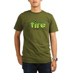 On Fire for the Lord 2 green Organic Men's T-Shirt