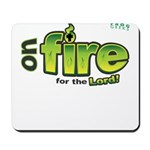 On Fire for the Lord 2 green Mousepad