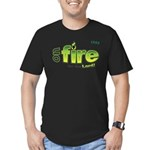 On Fire for the Lord 2 green Men's Fitted T-Shirt