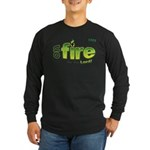 On Fire for the Lord 2 green Long Sleeve Dark T-Sh