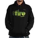 On Fire for the Lord 2 green Hoodie (dark)