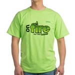 On Fire for the Lord 2 green Green T-Shirt