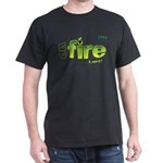 On Fire for the Lord 2 green Dark T-Shirt