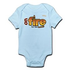 On Fire for the Lord 2 red Infant Bodysuit