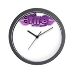 On Fire for the Lord Purple Wall Clock