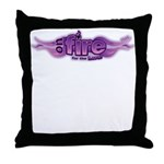 On Fire for the Lord Purple Throw Pillow