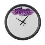On Fire for the Lord Purple Large Wall Clock