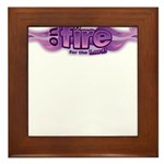 On Fire for the Lord Purple Framed Tile