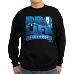 Pro-Life, from conception to Sweatshirt (dark)