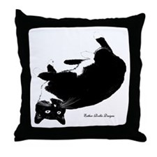 Playful Cat Throw Pillow