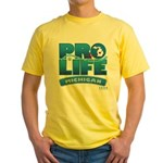 Pro-Life, from conception to Yellow T-Shirt