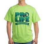 Pro-Life, from conception to Green T-Shirt