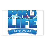 Pro-Life, from conception to Sticker (Rectangle)