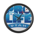 Pro-Life, from conception to Large Wall Clock