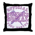 OFFICIAL SUMMER SOCIAL FOOD T Throw Pillow