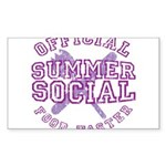 OFFICIAL SUMMER SOCIAL FOOD T Sticker (Rectangle 1