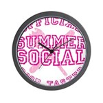 OFFICIAL SUMMER SOCIAL FOOD T Wall Clock