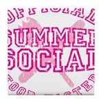 OFFICIAL SUMMER SOCIAL FOOD T Tile Coaster