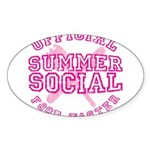 OFFICIAL SUMMER SOCIAL FOOD T Sticker (Oval)