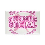 OFFICIAL SUMMER SOCIAL FOOD T Rectangle Magnet