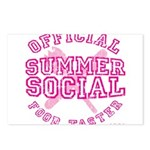 OFFICIAL SUMMER SOCIAL FOOD T Postcards (Package o