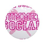 OFFICIAL SUMMER SOCIAL FOOD T Ornament (Round)