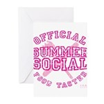 OFFICIAL SUMMER SOCIAL FOOD T Greeting Cards (Pk o