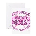 OFFICIAL SUMMER SOCIAL FOOD T Greeting Card