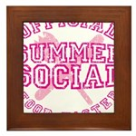OFFICIAL SUMMER SOCIAL FOOD T Framed Tile