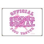 OFFICIAL SUMMER SOCIAL FOOD T Banner