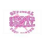 OFFICIAL SUMMER SOCIAL FOOD T 38.5 x 24.5 Wall Pee