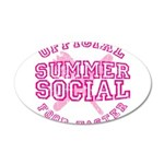 OFFICIAL SUMMER SOCIAL FOOD T 22x14 Oval Wall Peel