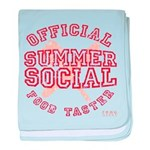 OFFICIAL SUMMER SOCIAL FOOD T baby blanket