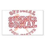 OFFICIAL SUMMER SOCIAL FOOD T Sticker (Rectangle)