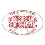 OFFICIAL SUMMER SOCIAL FOOD T Sticker (Oval 10 pk)
