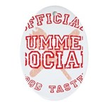 OFFICIAL SUMMER SOCIAL FOOD T Ornament (Oval)