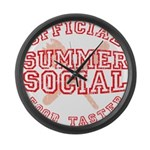 OFFICIAL SUMMER SOCIAL FOOD T Large Wall Clock