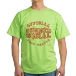 OFFICIAL SUMMER SOCIAL FOOD T Green T-Shirt