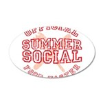 OFFICIAL SUMMER SOCIAL FOOD T 38.5 x 24.5 Oval Wal