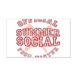OFFICIAL SUMMER SOCIAL FOOD T 22x14 Wall Peel