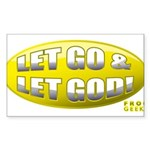 Let Go & Let God: Yellow Sticker (Rectangle)