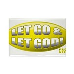 Let Go & Let God: Yellow Rectangle Magnet (10 pack