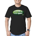 Let Go GREEN Men's Fitted T-Shirt (dark)