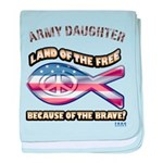 ARMY DAUGHTER baby blanket